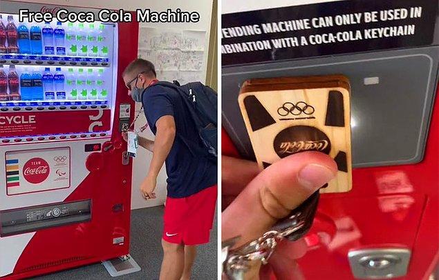Cody, sporcu olmanın avantajlarından birinin ise otomatlardan ücretsiz içecek alabilmek olduğunu söylüyor.