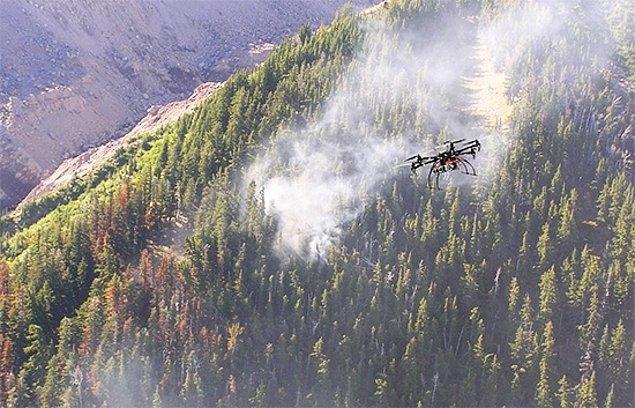 Orman yangınlarında az evvel bahsettiğim üzere dronelar da kilit bir öneme sahip.