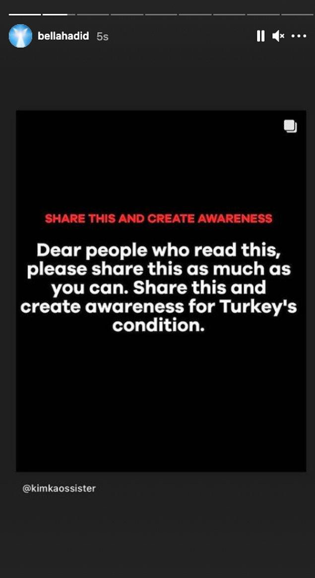 1. Tüm Türkiye'nin ardından birçok yabancı ünlü de yaptıkları paylaşımlarla #helpturkey dedi.