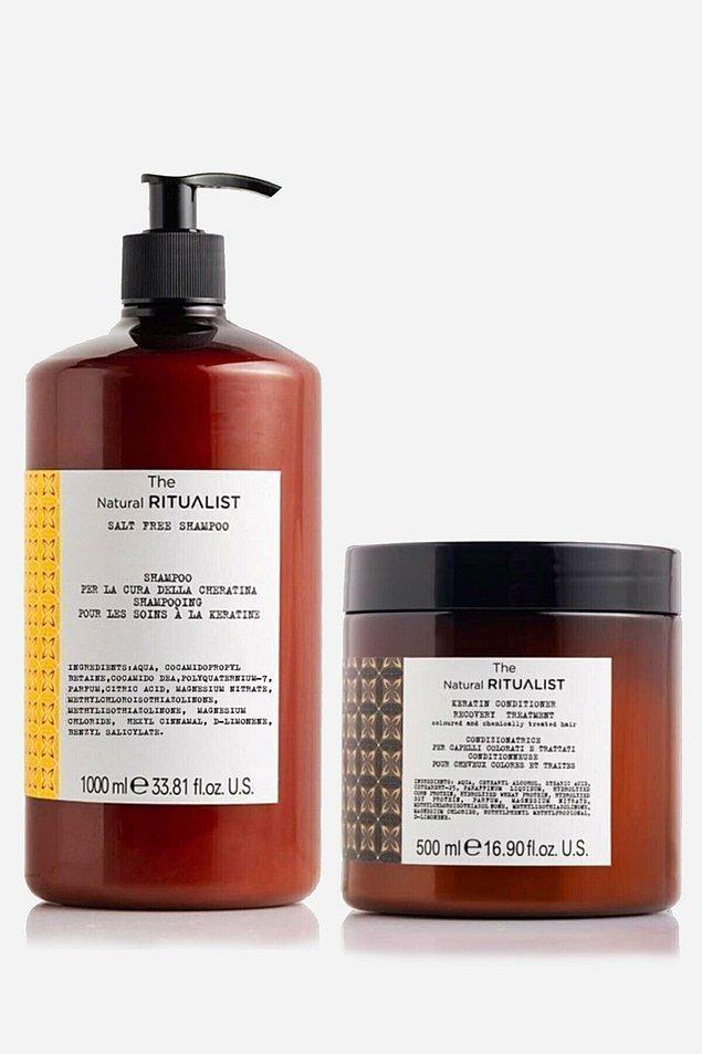 10. The Natural Ritualist de kremi ile set olarak satılan bir tuzsuz şampuan.