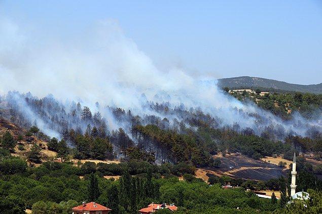 15:23 Uşak'ta yaklaşık 7 hektarlık alanda etkili olan orman yangını kontrol altına alındı.