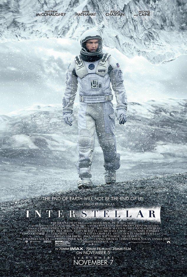 1. Interstellar - IMDb 8.6