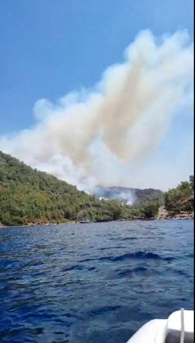 Sıcak hava, yangının dumanı, rüzgar, gökten yağan kül eşliğinde Türkiye'ye gönderilen yangın söndürme uçağının bulunduğu bölgeye gelmesi için yalvardı 45 dakika boyunca.