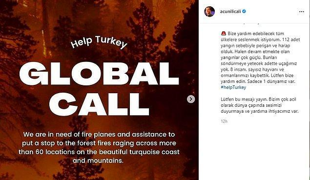 Bu fiziksel yardımlardan önce de Global Call isimli bir kampanya yapılmış, ünlü isimler sosyal medya hesaplarından kampanyaya destek vermişlerdi.
