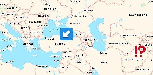 Avrupa'da sanıldığı gibi Afganistan Türkiye'nin komşusu değil. Hatta arada epey mesafe var.