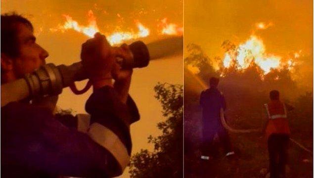 İşte dün akşam termik santrale yaklaşan yangına müdahale eden ekibin içinde İbrahim Çelikkol da vardı.