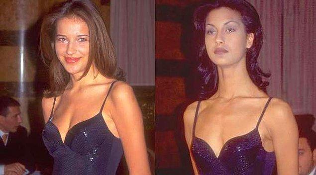 Yarışmaya katılan güzellerden biri de Burcu Esmersoy'du.