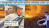 Ünlü Sosyal Medya Fenomeni CZN Burak'ın Orman Yangınını Yangın Tüpüyle Söndürmeye Çalışması Gündemde!