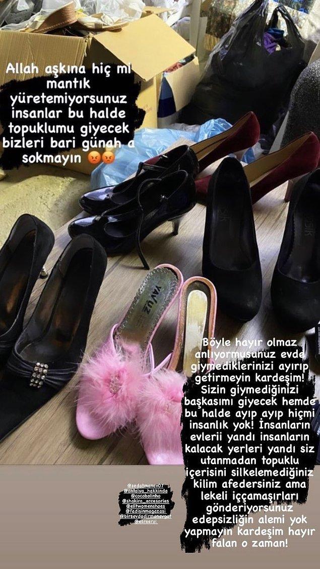 Topuklu tüylü terlik, topuklu ayakkabılar, temizlenmemiş kilim ve kullanılmış iç çamaşırları... Size ne demek lazım acaba?