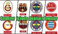 Değişmeyen Tek Şey Değişim! 10 Büyük Futbol Takımının Seneler İçinde Değişen Logoları