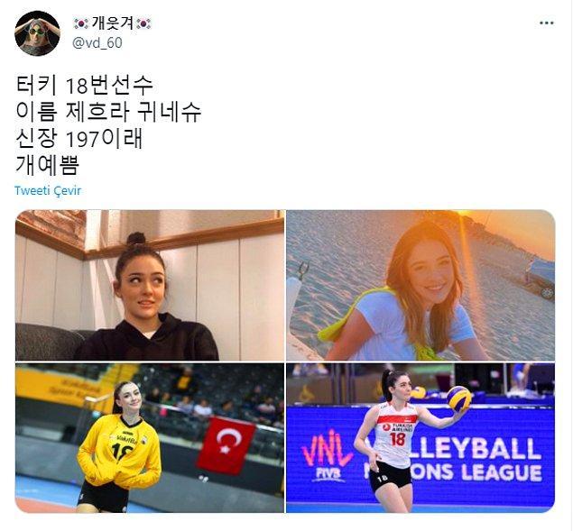 Güney Koreli sosyal medya kullanıcıları ise maç esnasında kendi sevinçlerini yaşarken bir yandan da Filenin Sultanları'nı övüyordu. Hatta güzellikleriyle ilgi çeken başarılı oyuncularımız, Güney Kore'nin Twitter gündemine bile girdi!