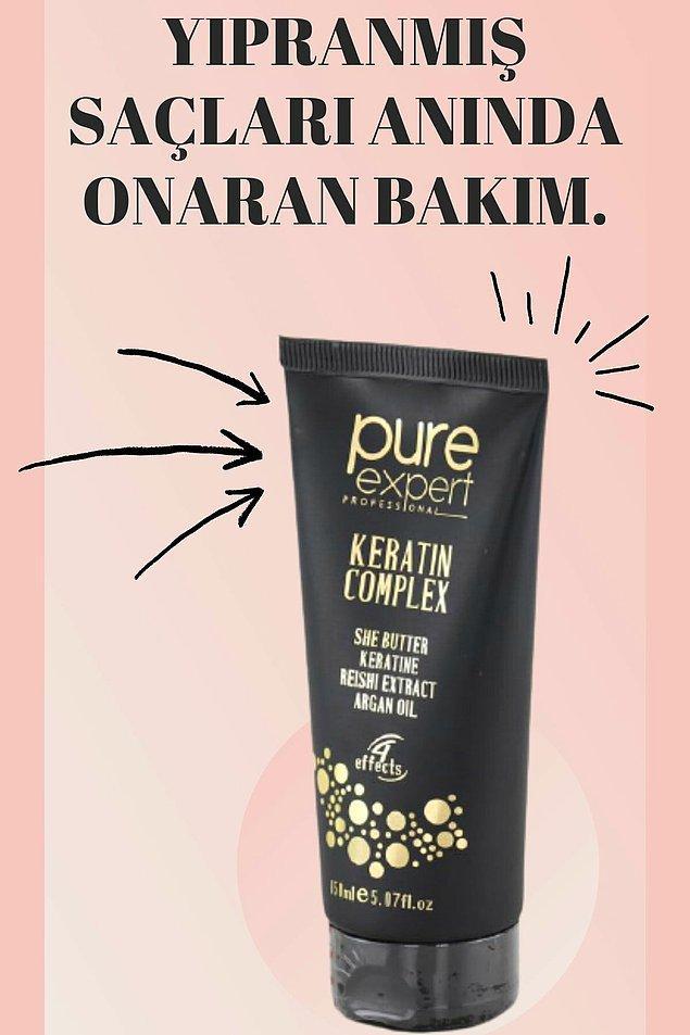 8. Saçlarınızda keratin bakımı tercih ediyorsanız Pure Expert bakım kremini deneyin!