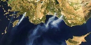 Uydu Fotoğraflarını Yayınladı: NASA'dan Türkiye'deki Yangınlarla İlgili Açıklama