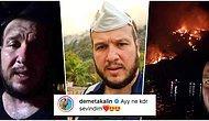 Günlerdir Marmaris'te İnsanlara Yardım Eden Şahan Gökbakar'ın Evinin Etrafını Saran Yangın Söndürüldü