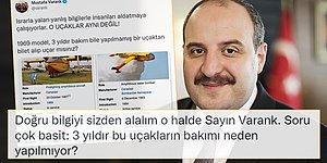 Sosyal Medya, 'THK Uçakları 3 Yıldır Bakımsız' Diyen Bakan Varank'a Sordu: 'Neden Bakım Yapmadınız?'