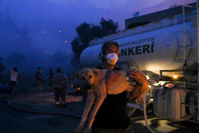 Milas'taki yangın söndürülemiyor: 2 mahalleye tahliye