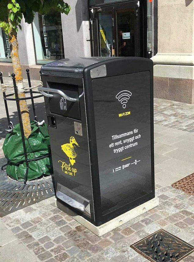 "1. ""İsveç'te WiFi olan çöp kutularımız var."""