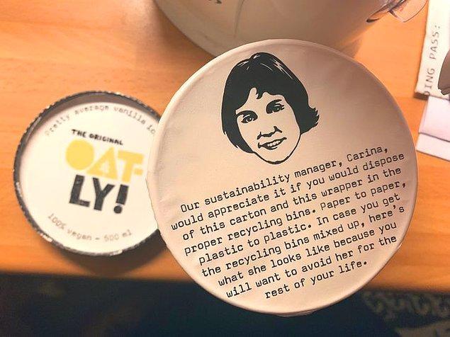 """5. """"Sadece İsveç'te dondurma kutusunun üzerinde yedikten sonra paketi dönüştürmenizi hatırlatan bir yazı vardır herhalde."""""""