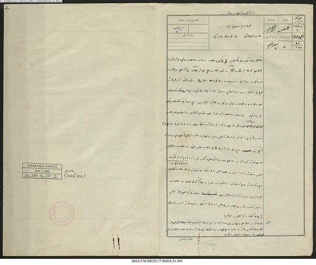 Sevr Barış Anlaşması uyarınca Yunan idaresine bırakılmış olan bölgelerdeki memurların maaşlarının ödenmesine dair arşiv belgesi.
