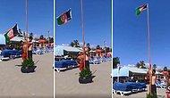Antalya'da Bir Plaja Afganistan Bayrağı Astığı İddia Edilen Gencin Tepki Çeken Görüntüleri