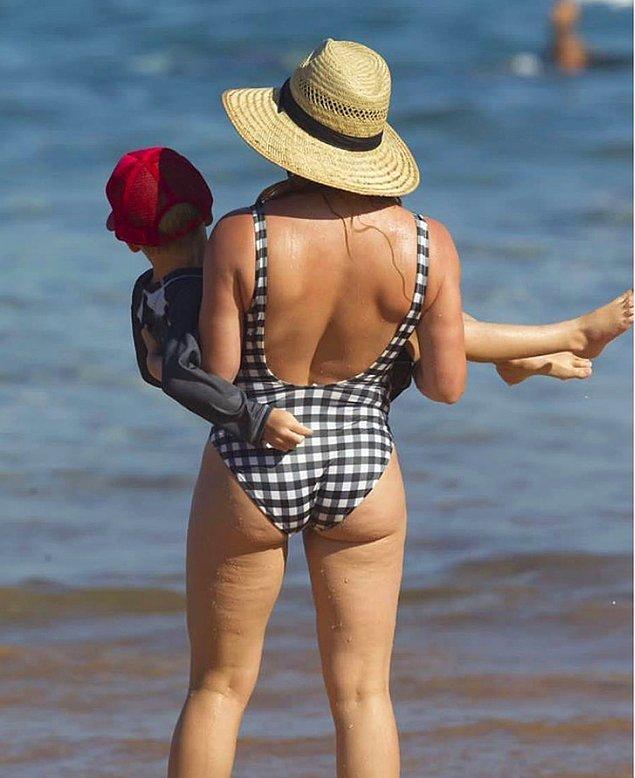 3. Hilary Duff'ın selülitin ne kadar normal olduğunu kanıtlayan paylaşımı: