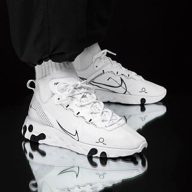 2. Sokak stilinizi tamamlayacak farklı bir model arıyorsanız, Nike React Element ayakkabı modeline göz atabilirsiniz.