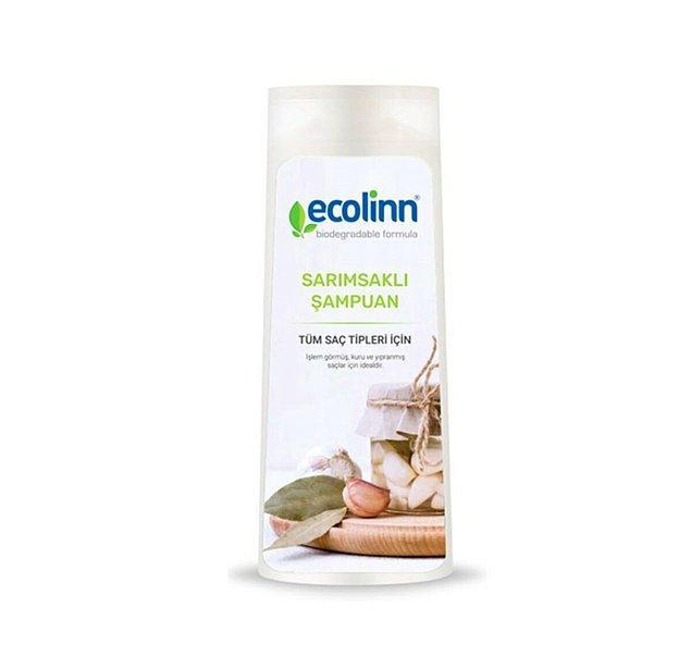 5. İşlem görmüş, kuru ve yıpranmış saçlar için ideal Ecolinn Sarımsaklı Şampuan