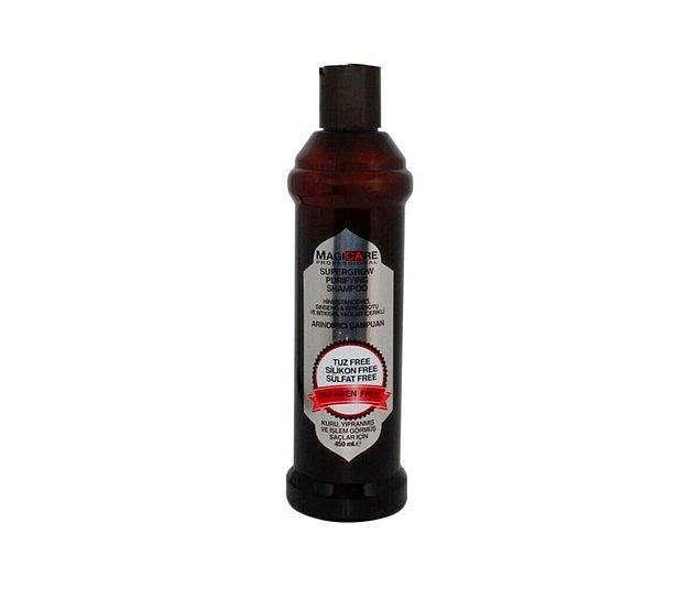 12. Magicare Supergrow Purifying kuru, yıpranmış ve işlem görmüş saçlar için şampuan