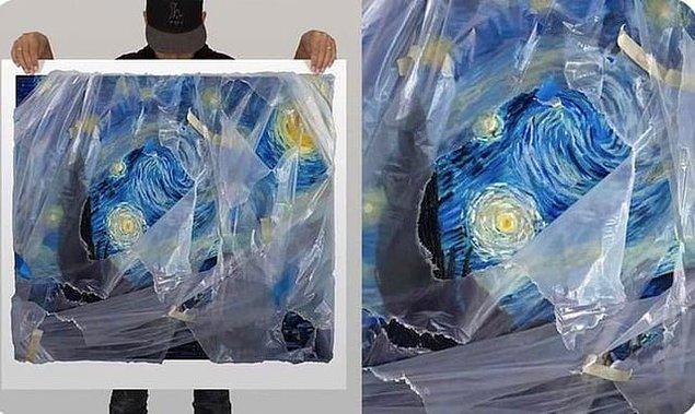 17. Sanatçı Robin Eley'in çalışmaları sanki bir poşetin ardındaymış gibi görünüyor ancak gördüğünüz sadece bir çizim.