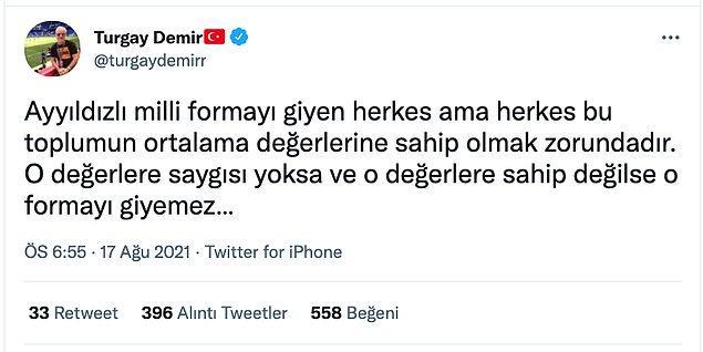 Turgay Demir sonrasında da konu hakkındaki homofobik yorumlarına devam etti.