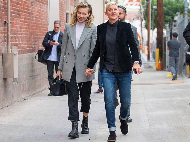 2. Ellen DeGeneres ve Portia de Rossi