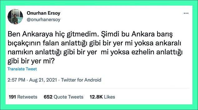 Geçtiğimiz günlerde Ankara'ya hiç gitmeyen bir Twitter kullanıcısı kimin tasvirinin daha gerçekçi olduğunu sormuştu👇🏻