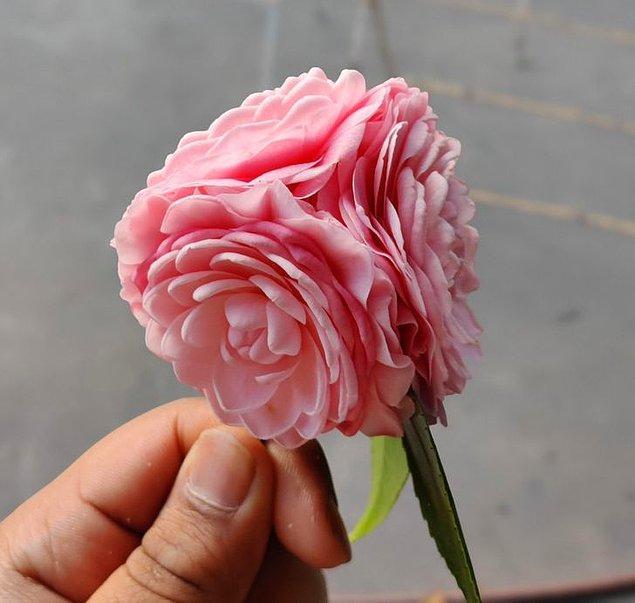"""8. """"Bugün 3 tomurcuklu bir çiçek buldum."""""""