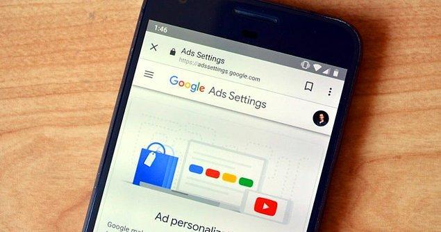 Buraya tıklayarak ulaşabileceğiniz Google Reklam Ayarları'na girin.