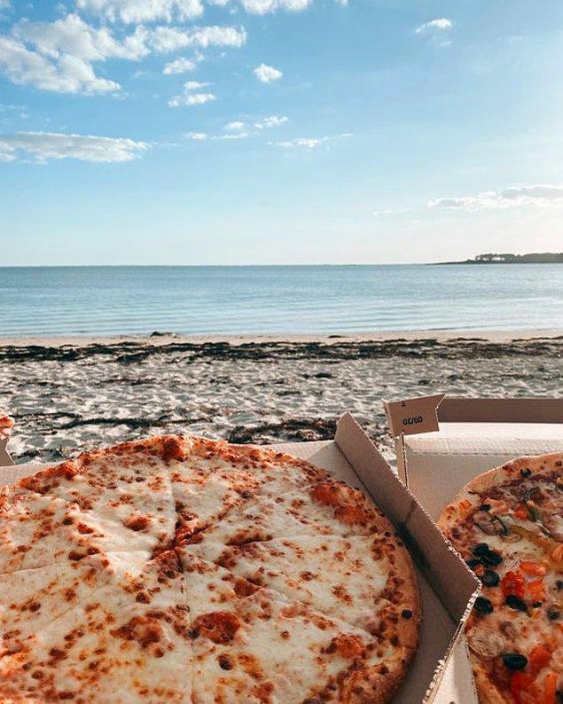 3. Sence pizza yemek için ideal yer neresi?