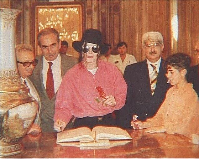 16. Michael Jackson Dolmabahçe Sarayı'nda, İstanbul, 1993.