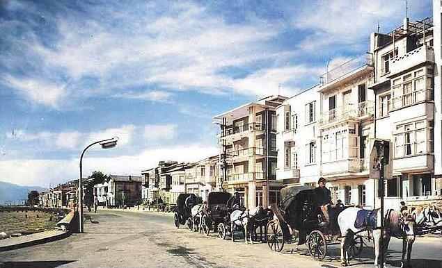 17. Karşıyaka'da sahil, İzmir, 1960.