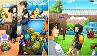 Tatile Çıkamayan Karikatüristin Sevgilisi ve Kendine Yarattığı Video Oyunu Tatil Cennetini Görmelisiniz!