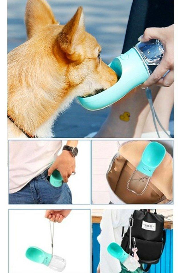 8. Taşınabilir kedi köpek suluğu.