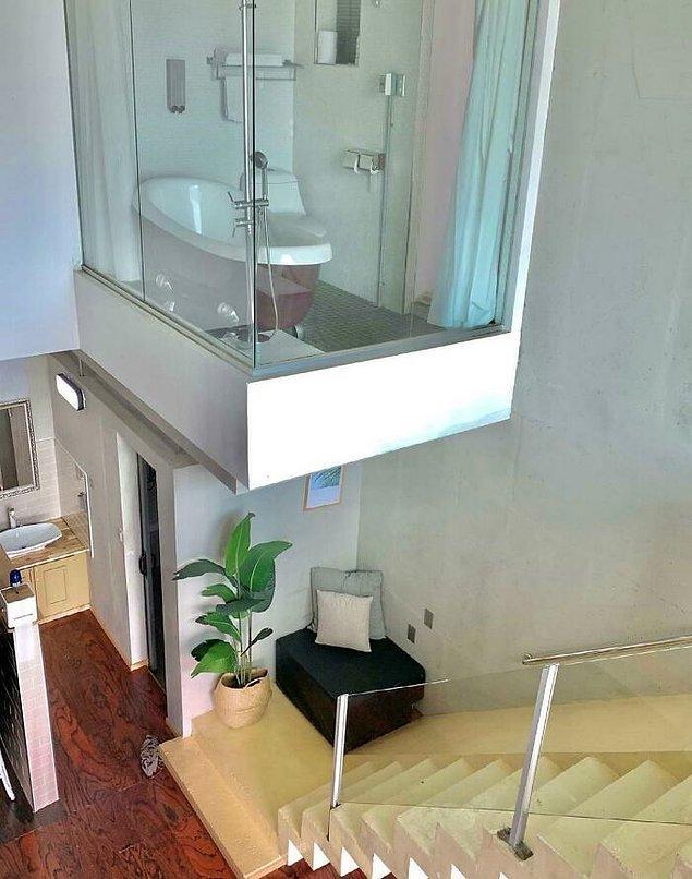 18. Alandan tasarruf eden kullanışlı bir lavabo...