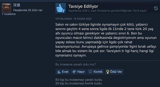 3. Türkiye ligini seçmeyin.