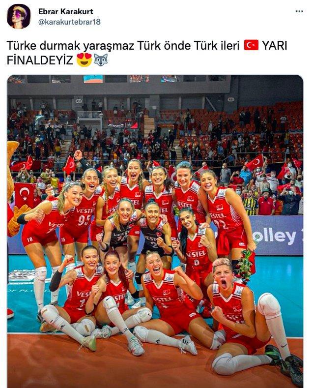 Ayrıca geçtiğimiz akşam başarılı sporcumuz Ebrar Karakurt'un paylaşmış olduğu bu tweete de akılalmaz yorumlar geldi...