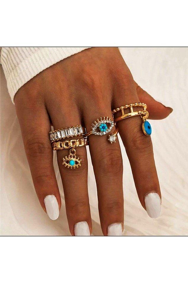 1. Eklem yüzüğünün havası da bir başka! Hele ki uzun parmaklarınız varsa....