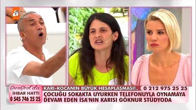 2 sene eşiyle birlikte kaldıktan sonra tekrar Hüseyin'in yanına kaçtığını anlatan Göknur, Hüseyin'le Antalya'da bir süre kaldıktan sonra Nevşehir'e gittiklerini ve orada kavga edip ayrıldıklarını söyledi.