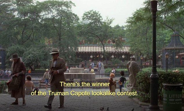 2. Woody Allen'ın yönettiği 1977 yapımı 'Annie Hall' filminde, yazar Truman Capote'a benzeyen insanlar yarışmasında birinci olan kişi gerçekten Truman Capote!