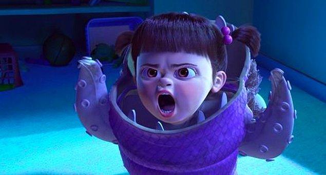 8. 'Monsters Inc.' filminde Boo karakterini seslendiren Mary Gibbs çekimler sırasında 2 buçuk yaşındaymış. Yönetmen, stüdyoda küçük oyuncunun peşinde dolanarak replikleri kayıt almış.