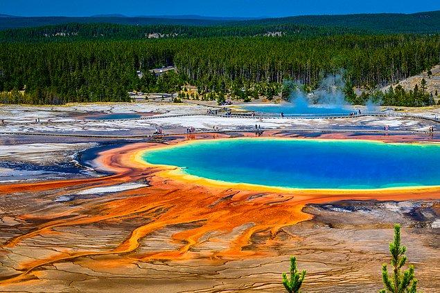 3. Yellowstone Milli Parkı doğada görülebilecek en güzel renkleri sunuyor!