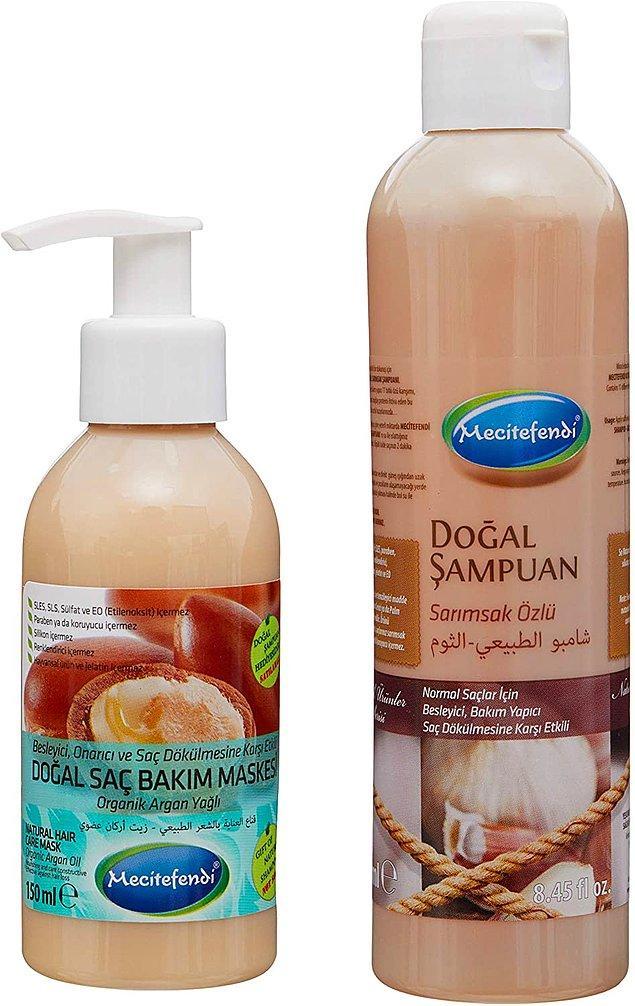 3. Saç dökülmesine karşı etkili olan Mecitefendi doğal şampuan ve doğal saç maskesi, en çok satılan setlerden olmuş.