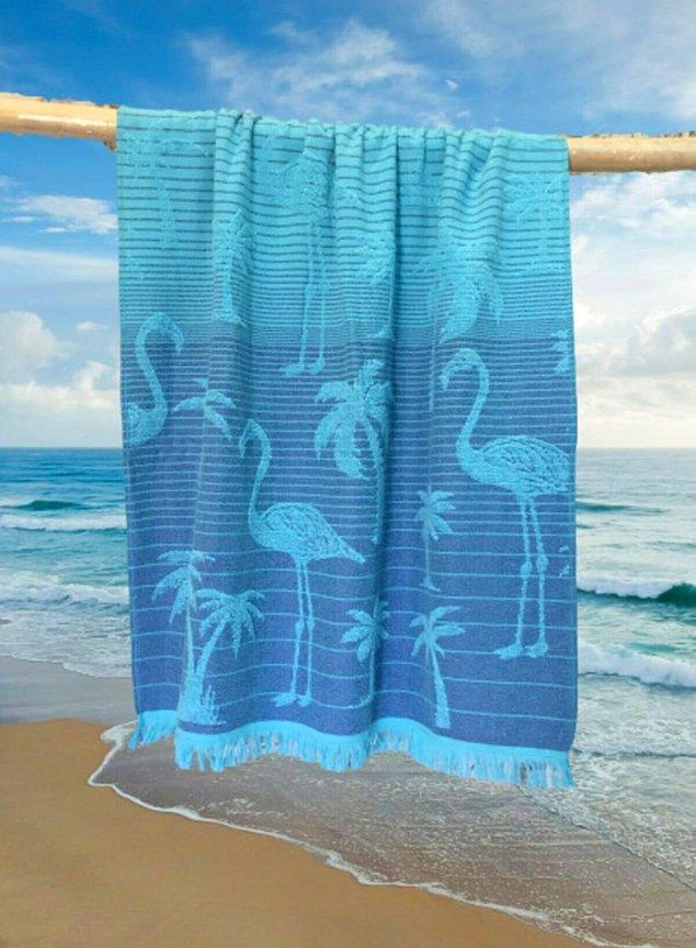 11. Tatili bitmeyenlere ve seneye stoklayanlara mavi plaj havlusu!