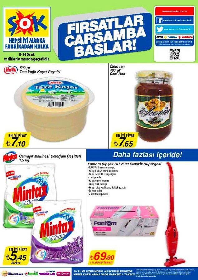 Aşağıda 2014 yılına ait fiyatları bulunan Kaşar Peyniri şu an 25 TL, Deterjan 14 TL, Bal ise 16,90 TL